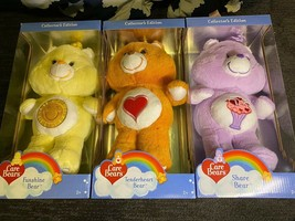 3 Care Bears Collector's Edition - $80.41