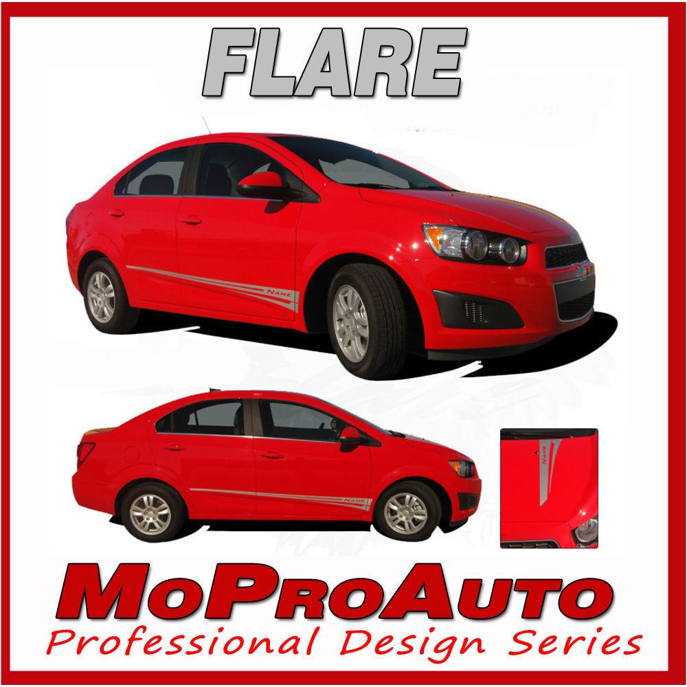Chevy SONIC- 2015 - FLARE Graphics Pro Grade Vinyl - Stripes Decals Kit 3M 002