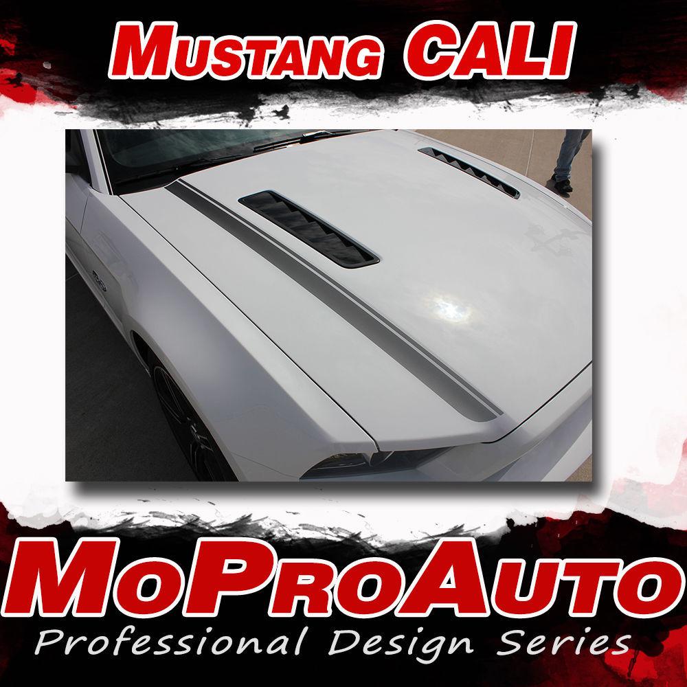 CALIFORNIA SPECIAL GT/CS Rocker Hood Vinyl Stripe Decal Graphic 2014 Mustang K33