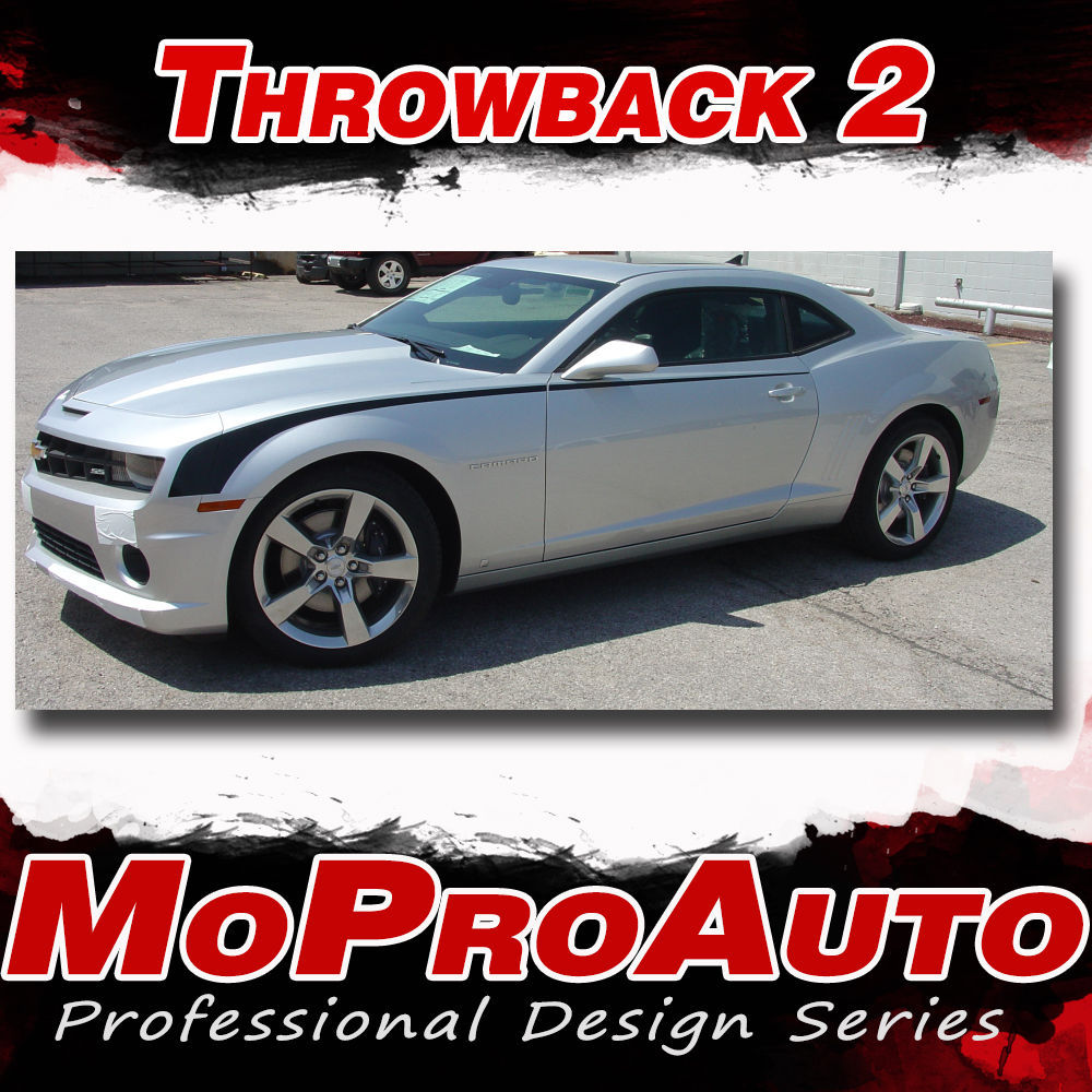Chevy Camaro 2015 THROWBACK 2 Hockey Stick Stripes 3M Vinyl Graphic Decals SS3