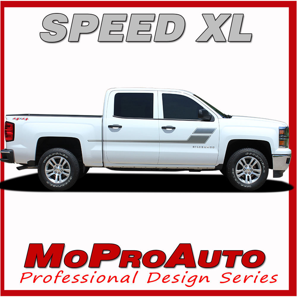 Chevy Silverado SPEED XL 3M Pro Grade Vinyl 2005 Side Stripe Decals Graphic BVQ