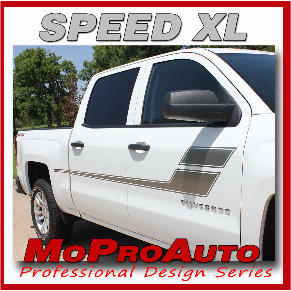Chevy Silverado SPEED XL 2014 3M Pro Grade Vinyl Side Stripe Decals Graphic PWS
