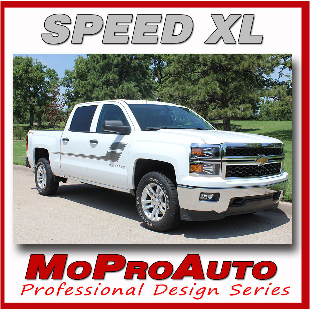 Chevy Silverado SPEED XL 3M 2008 Pro Grade Vinyl Side Stripe Decals Graphic MXS
