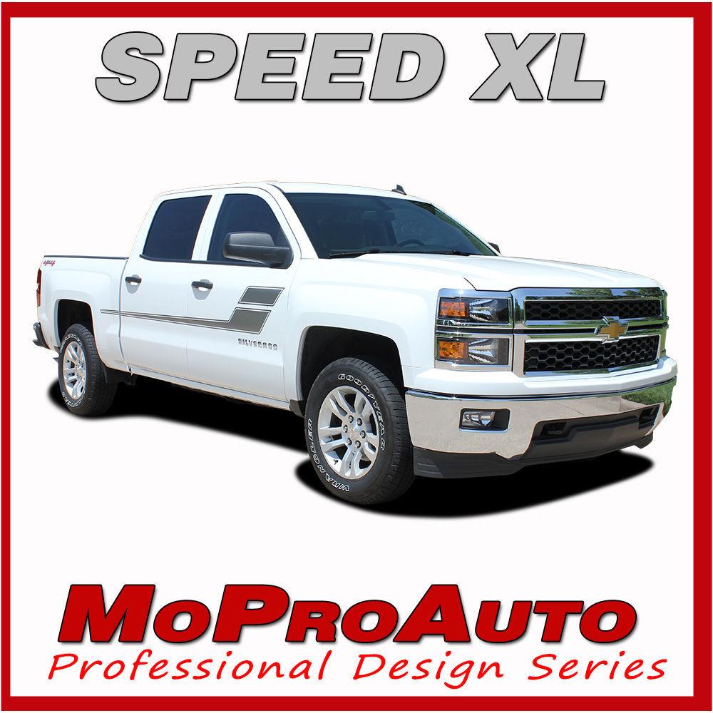 Chevy Silverado SPEED XL 3M Pro Grade Vinyl Side Stripe Decals 2007 Graphic 4RF