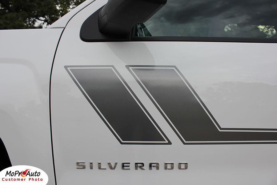 Chevy Silverado TRACK XL 3M 2011 Pro Grade Vinyl Side Stripe Decals Graphic LW6