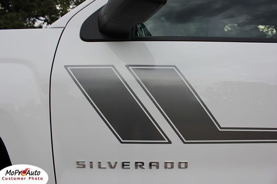 Chevy Silverado TRACK XL 3M Pro 2010 Grade Vinyl Side Stripe Decals Graphic JU7