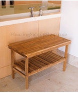 Teak Rectangle Bench with Removable Shelf 28 - $349.00