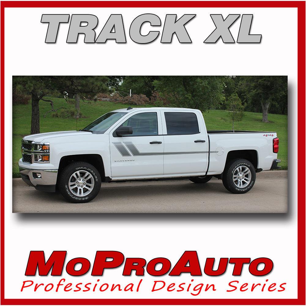 Chevy Silverado TRACK XL 3M Pro Grade Vinyl 2015 Side Stripe Decals Graphic LO9