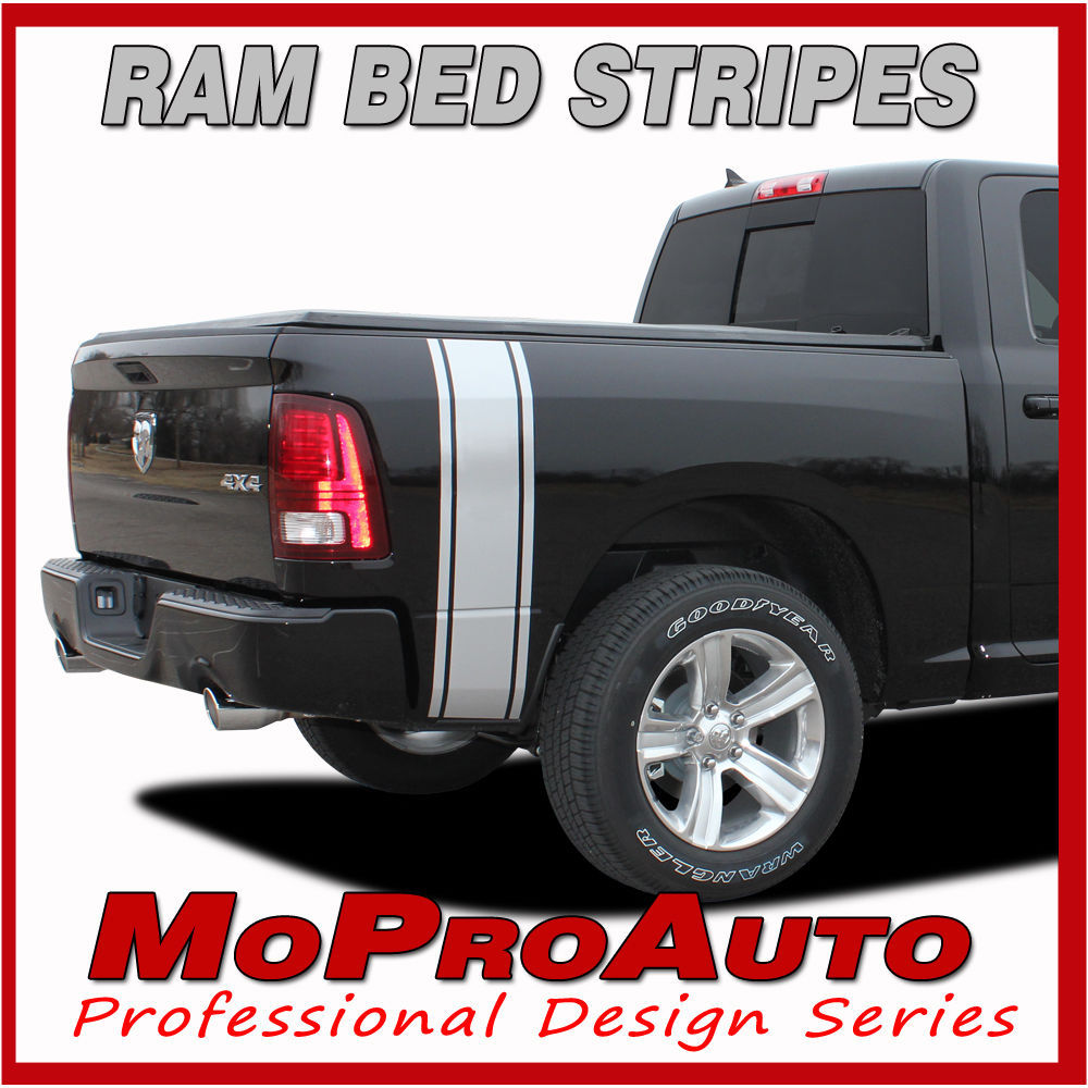 Dodge 2010 Ram Rumble Truck Bed Panel Vinyl Graphics Decals - 3M Pro Stripes P02