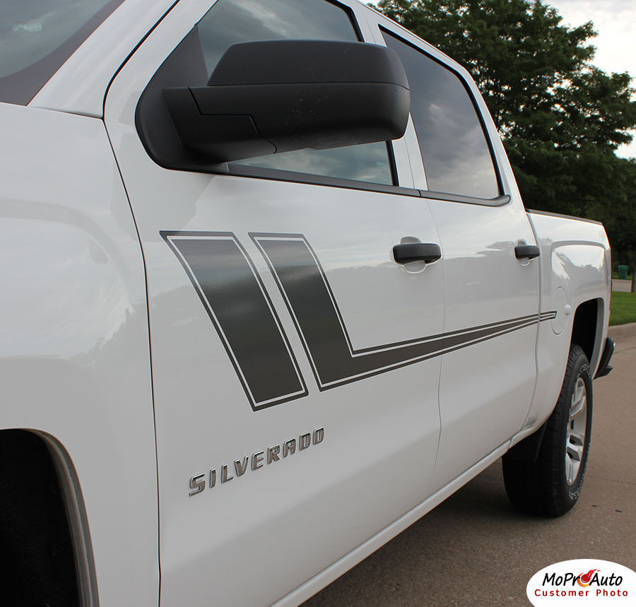 Chevy Silverado TRACK XL 3M Pro Grade Vinyl 2009 Side Stripe Decals Graphic LO9