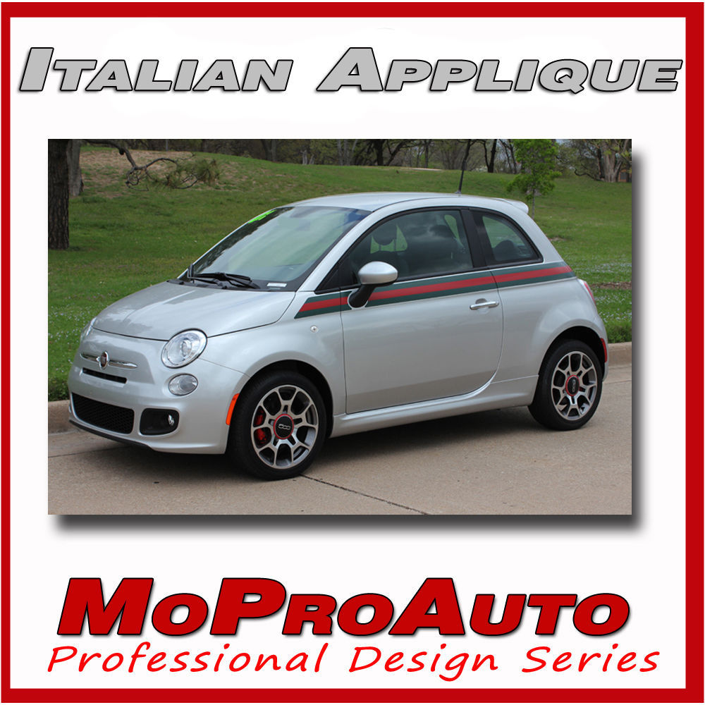 Fiat 500 SE ITALIAN SIDE 2013 / 3M Side Vinyl Stripes Decals Graphics NN7