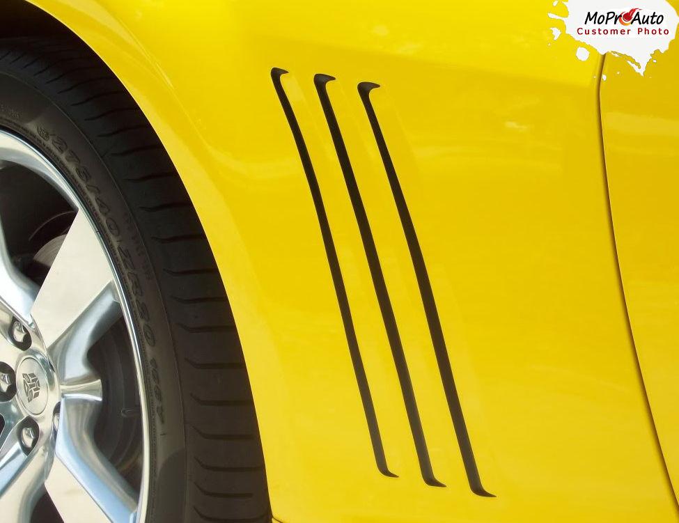 GILL 2 Vent Insert Stripe Decal 3M Vinyl Graphic LS SS 2 2014-2015 Chevy Camaro