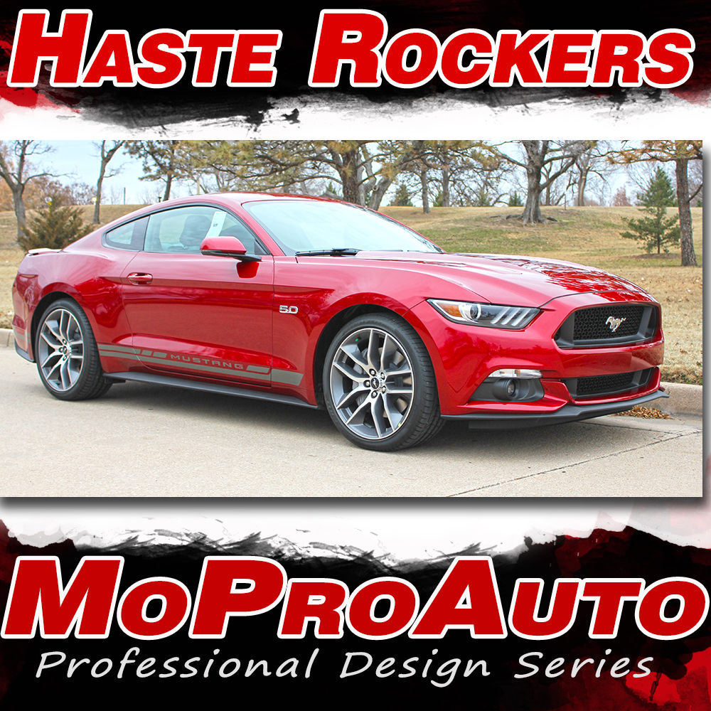 HASTE ROCKER Lower Door Vinyl Stripe 3M Decals Graphic 2015 Ford Mustang | K1