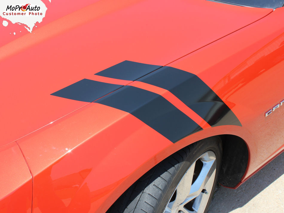 Hood Hash Lemans Stripe DOUBLE BAR 2015 Chevy Camaro Decal 3M Vinyl Graphic 2SS