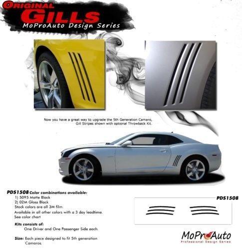 Original GILL Vent Insert Stripe Decal 3M Vinyl Graphic GM LS SS 2 2015 Camaro
