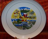 Full Color Texas Lone Star Collectible Plate Gold Rim - $5.00