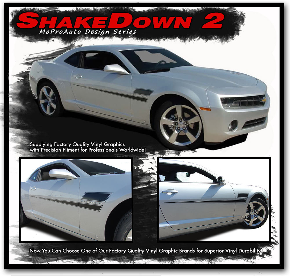 SHAKEDOWN 2 Chevy Camaro 2015 Hockey Body Stripes 3M Vinyl Graphic Decals LS1