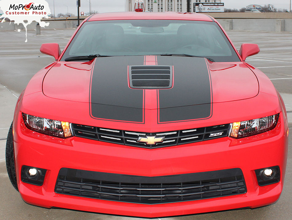 S-SPORT Factory Style Rally Stripes Spoiler Graphics 3M Vinyl 2015 Camaro SS74