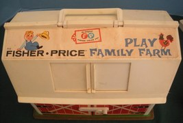 Vtg. Fisher Price Play Family #915 Farm w/ Hex Animals and Wood LP/VG++-EXC! (F) image 3