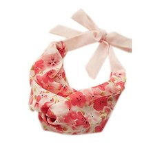 Cute Rose Pink Strap Headband Lace Up Floral Print Hair Band