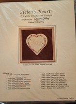 Helen's Heart Ribbon Embroidery Pattern Lynne R... - $8.90