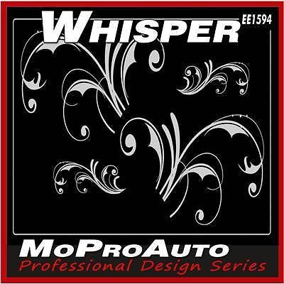 WHISPER - Professional Vinyl GRAPHICS Stripes Decals Tats * FLOWERS * 820