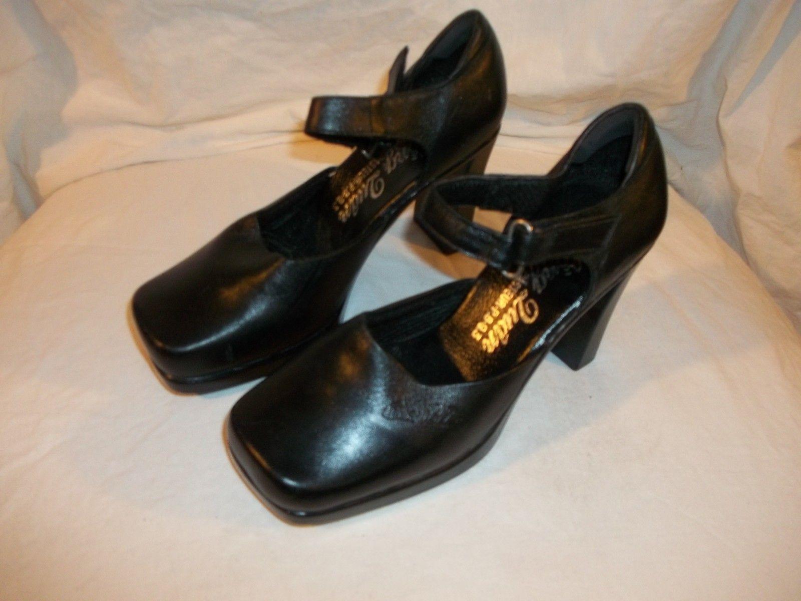 "Ladies Size S Arnold Palmer Vintage Black Dance Shoes NWOB Heel to toe 9"""