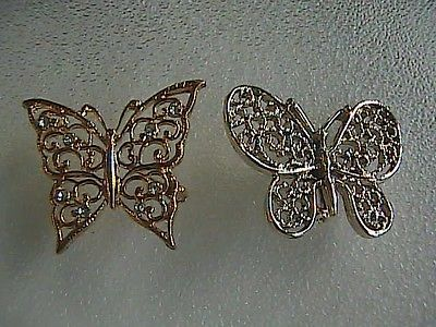 Fashion Silver & Gold Tone Butterfly Pin Brooch