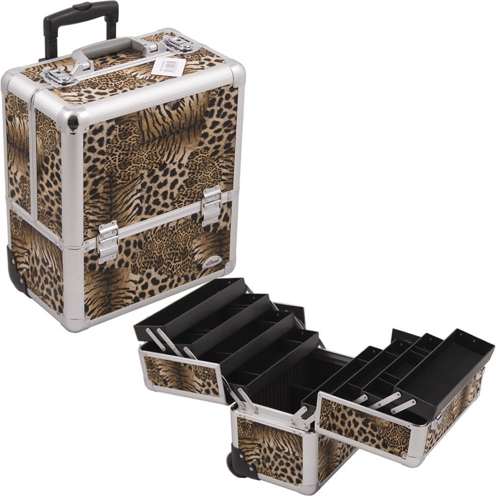 New Professional Black Travel Portable Cosmetic Makeup Artist Case Organizer