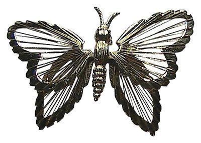 Monet Fashion Gold Tone Butterfly Pin Brooch