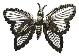 Monet Fashion Gold Tone Butterfly Pin Brooch - $12.00