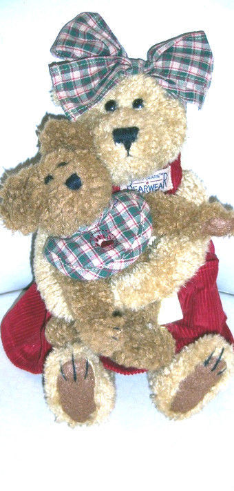 "Boyds Bears ""Momma McBear & Delmar"" #41-72585- SF EXCLUSIVE- MUSICAL -1999--NWT"