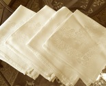 Apt bedroom dresser drawer 1   set of 4 appears to be satin damask table napkins  floral   ivory  approx 15 x 15 2 tiny tiny spots see photos   pd 5.00 for all 5 4 13 gar sale  89123 thumb155 crop