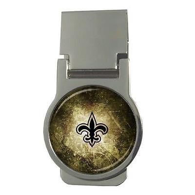 New Orleans Saints Chrome Money Clip - NFL Football