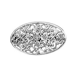 14Kt White Gold Diamond Brooch SKU: 66019