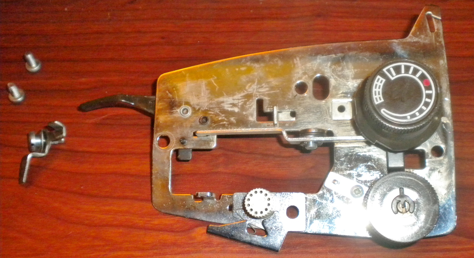 Viking Husqvarna 6460 Face Plate Bracket w/Tension & Pressure Dials & Lift Lever