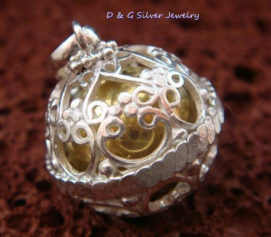 Sterling Silver Chime Ball Pendant 18mm CH-100-DG