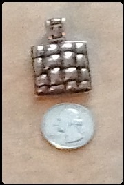 Textured sterling pendant