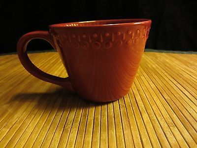 Starbucks Red Coffee Mug Tea Cup Made In Portugal 14 Ounces