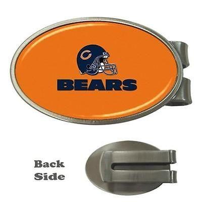 Chicago Bears Chrome Money Clip - NFL Football
