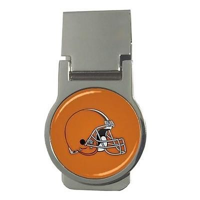 Cleveland Browns Chrome Money Clip - NFL Football