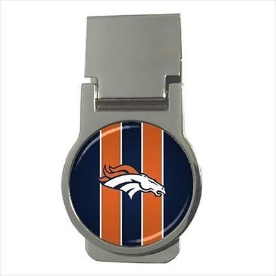 Denver Broncos Chrome Money Clip - NFL Football