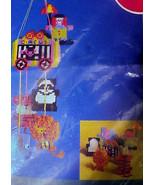 Vintage Needlecraft WonderArt Baby Nursery Circus Mobile Plastic Canvas ... - $29.99