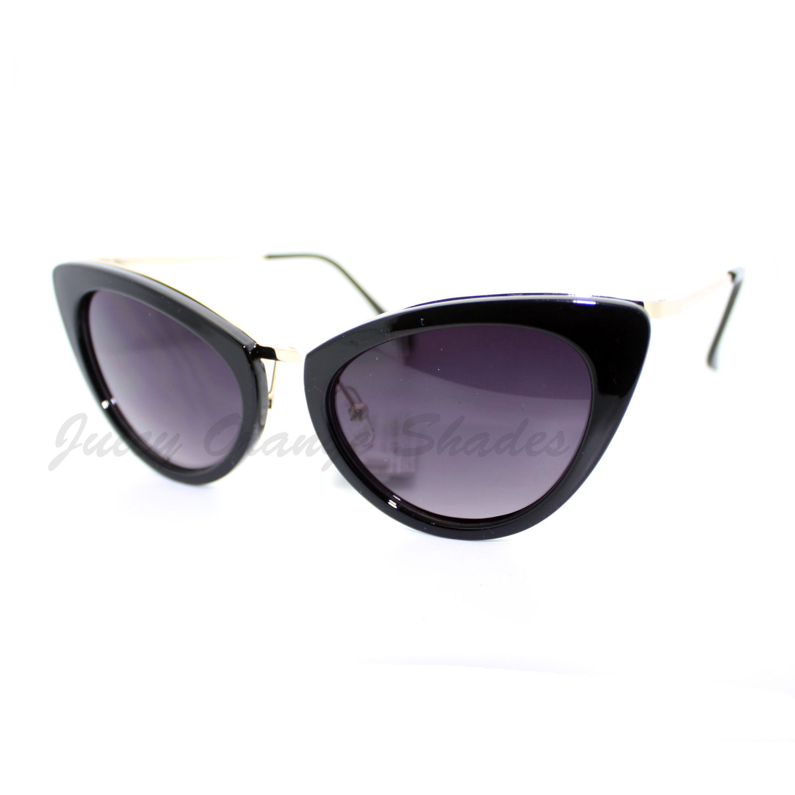 Womens Cateye Sunglasses Designer High Fashion Chic Retro Shades