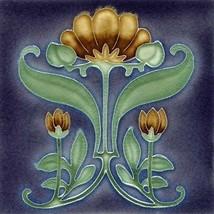 Decorative Ceramic tile 4.25 X 4.25 inches, Illustration Vintage art nou... - $7.50