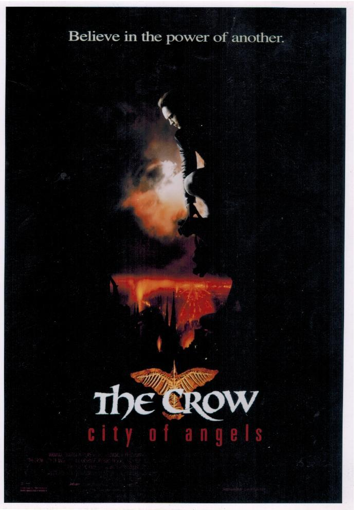 The Crow Brandon Lee CA Vintage 8X10 Color Movie Memorabilia Promo Photo
