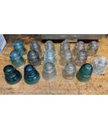 Lot of 17 Vintage Antique Glass insulators Hemingray tatum - $183.15