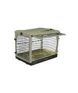 Pet Gear Deluxe Steel Dog Crate with Bolster Pad - Large/Sage 961-PG5942BSG - $376.03