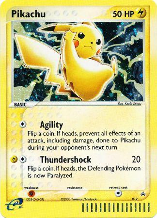 Pikachu 012 holo rare nintendo promo