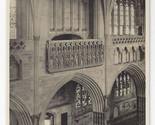 Br 1166  uk uk england exeter cathedral minstrels gallery tucks real photo postcard rppc thumb155 crop